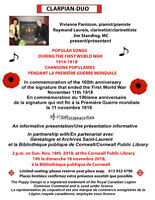 SONGS AND MUSIC OF WWI ERA CONCERT
