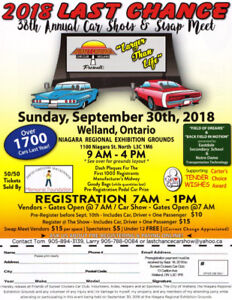 Last Chance Car Show and Swap Meet  -  Welland ON