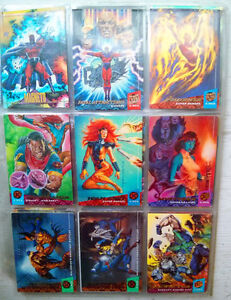 X-Men Collector Cards + 90s Superman Comics