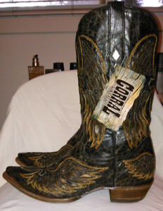 Corral Men's Wing and Cross Western, Cowboy Boots - Snip Toe 10D