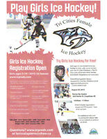 Try Girls Ice Hockey for Free