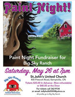 Paint Night for Big Sky Ranch