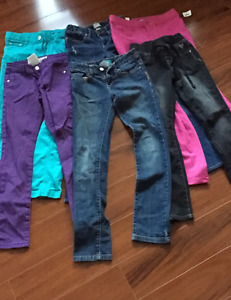 6 pairs of girls pants