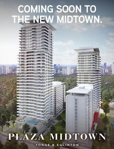 Plaza Midtown Condos at Yonge & Eglinton from Mid $300s
