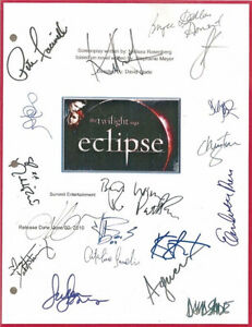 Twilight Eclipse Signed Screenplay preprint
