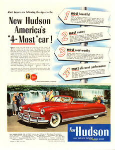 1949 (10 x 13 ¼ ) authentic magazine ad for Hudson Automobiles
