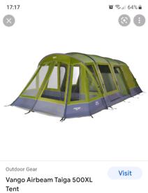 Vango airbeam Taiga 500xl tent,including footprint and skyshield