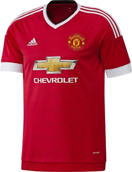 Adidas Climacool Mens Manchester United FC 2015/2016 Home Jersey - Red & White (Size L) (BNWT)