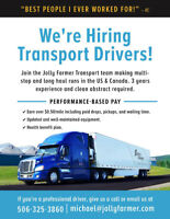 Professional Truck Drivers Wanted