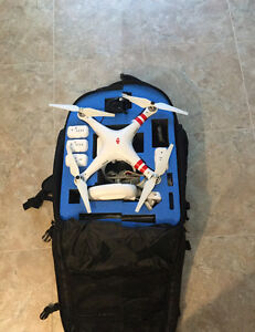 DJI Phantom 2 Vision Plus with backpack case and extra batteries Prince George British Columbia image 1