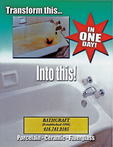 $ 350.00 BATHTUB REFINISHING - SAVE UP TO 80% OVER REPLACEMENT
