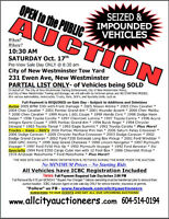 1978 Aristocat Motor Home Unreserved Auction Sat. October 17th,