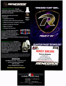 RENEGADE RACE FUELS & LUBRICANTS - HIGHEST QUALITY AVAILABLE
