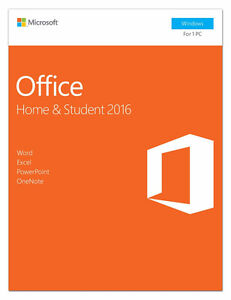 Office Home & Student 2016 for PC - Windows, New, Sealed