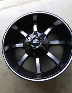 "4  NEW 6×139.7/6x135- 20x9""   GLOSS BLACK  and MACHINED WHEELS"