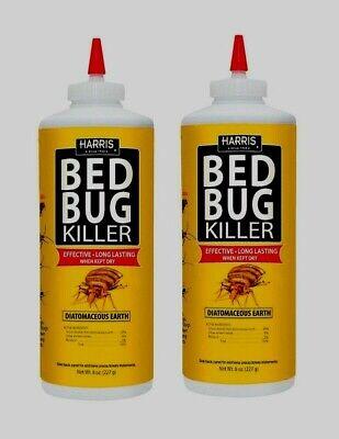 2 HARRIS HDE-8 BED BUG Diatomaceous Earth Powder Egg INSECT KILLER 8oz Pet