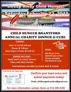 Child Hunger Brantford Annual Charity Dinner and Curl
