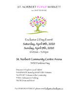 ST. NORBERT CRAFT SALE - April 18 & 19, 2020