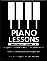 Back to school PIANO LESSONS for beginners! (travelling teacher)