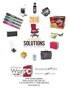 Get all your office/business supplies at Les Entreprises WarPC