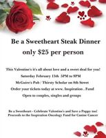 Be a Sweetheart Steak Dinner - Valentine Event