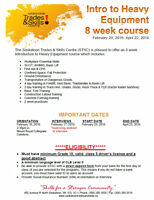 Intro to Heavy Equipment - 8 Weeks $$PAID$$ Course