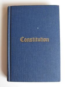 1939 Book of the Constitution of The Grand Lodge, Masons
