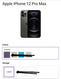 Iphone 12 pro max 128 brand new