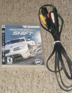 Need for Speed Shift (PS3) and a PS1,PS2,PS3 universal AV cable
