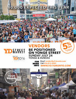 VENDOR OPPORTUNITY directly ON YONGE ST - Sun Jul 24 -All types!