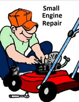 Small engine repair 25 dollars/hr plus parts
