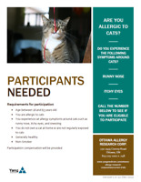 Paid Clinical Trial - Allergy to Cats (Non-drug study)