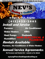 Nev's Furnaces Air Conditioning Fireplaces Barbecues Arnprior