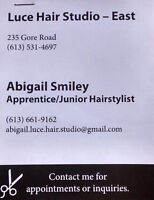 Hair appointments!