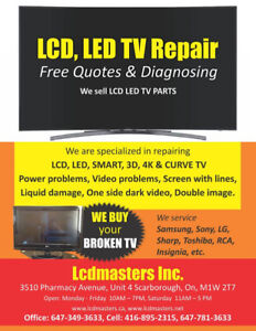 LCD LED TV SCREEN REPAIR, LCD TV REPAIR, SMART LED 3D TV REPAIR.