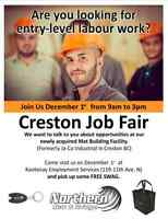 Creston Job Fair - Dec 1st 9am-3pm