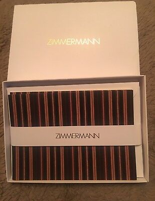 Zimmermann 10 Note Cards &  Envelopes Stationery With Gold Embossed -