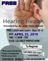 Free Lunch and Learn on Hearing Health