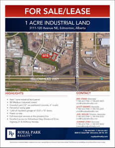 1 Acre Industrial Land for Sale or Lease