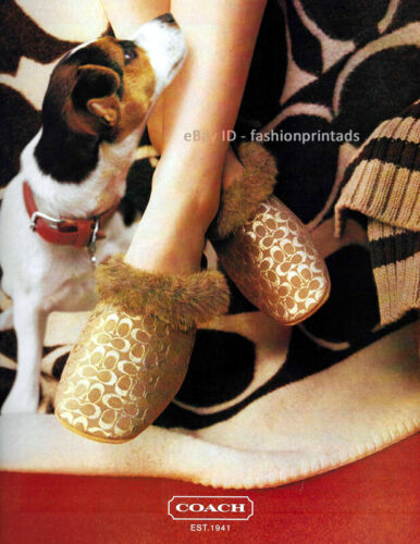 COACH 1-Pg Magazine PRINT AD Holiday 2002 jack russell terrier woman