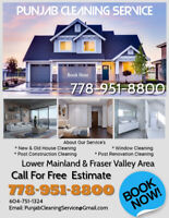 New & Old House Cleaning Service  ( Post Construction)