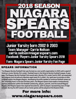 Niagara Spears Junior Varsity Football Wants you!!!!