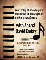 An evening of chanting with Anand David at The Naramata Centre