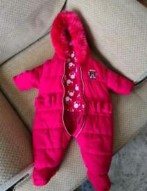 First size Disney snow suit Minnie mouse