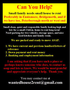 YIKES NOV.18 2 Adults Looking for house to rent Ennis, BGNH, PTB
