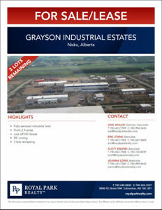Nisku Grayson Industrial Estates for Sale/Lease