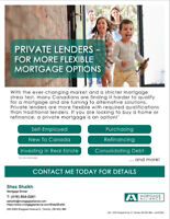 PRIVATE MORTGAGE - 1ST & 2nd MORTGAGES UPTO 95%