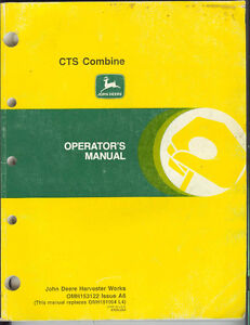 JD CTS  combine manual
