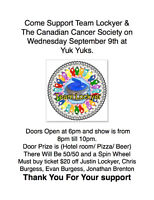 Fundraiser For Curling Team and Canadian Cancer Society