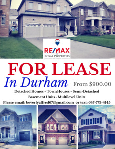 For Lease in Ajax